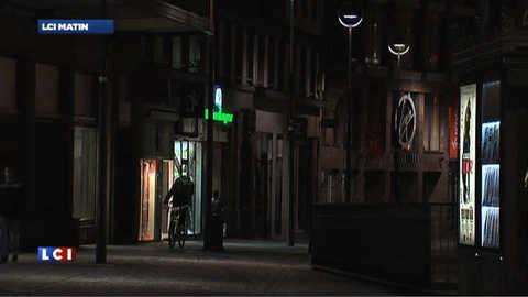 Strasbourg dans la pénombre à partir d'une heure du matin