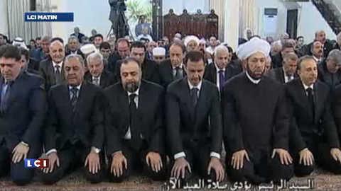 Syrie : Assad profite d'une trêve pour prier