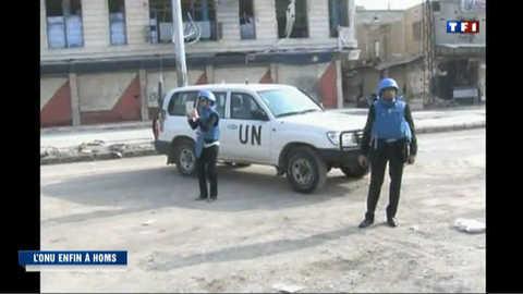 Syrie : une délégation de l'ONU pénètre dans Homs