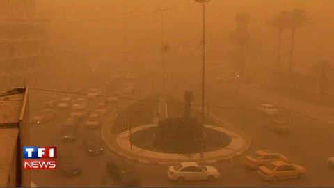 Tempête de sable sur l'Irak : les images