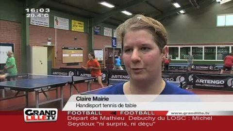 Tennis de table: Claire Mairie qualifiée pour les JO
