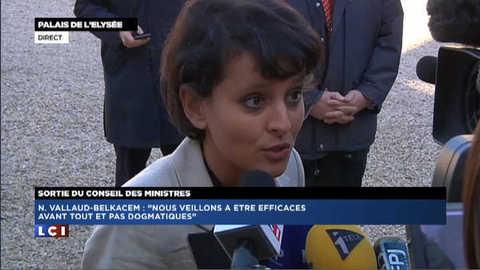 """Texte retoqué au Sénat : """"c'est dommage"""" réagit Vallaud-Belkacem"""