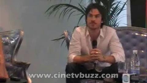 The Vampire Diaries - Interview de Nina Dobrev, Ian Somerhalder et Paul Wesley au Festival TV de Monte Carlo 2010 - Partie 1