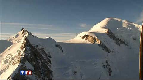 Travaux de haute-voltige au sommet du Mont Blanc