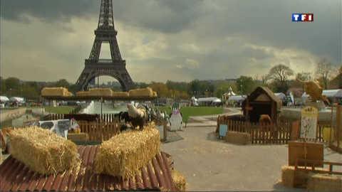"""Le Trocadéro se transforme en champ pour une """"Nuit Verte"""""""