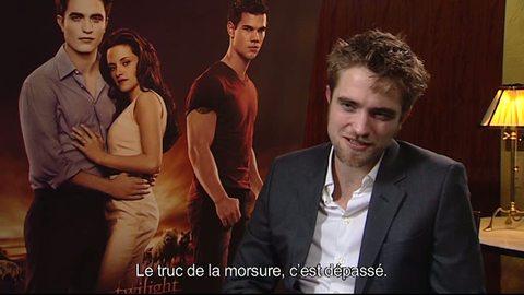 Twilight - Chapitre 4 : Révélation (1ere partie) -  interview Robert Pattinson