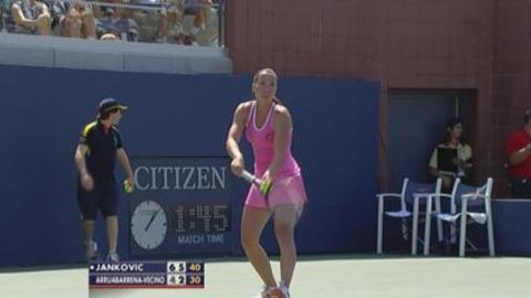 US Open: jankovic vs arruabarrena-vecino
