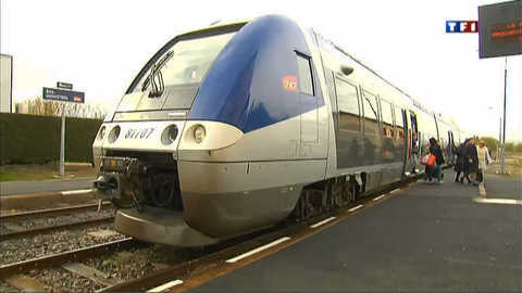 Des usagers de la SNCF en grève de billets