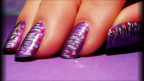 utilisation pinceau eventail ou fan brush ongles