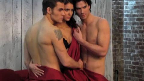 Vampire Diaries - Coulisses du photoshoot d'Entertainment Weekly