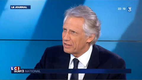 """Villepin :  il faut envisager des """"frappes ciblées"""" contre Damas"""