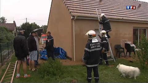 De violents orages s'abattent sur la Saône-et-Loire