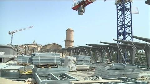Visite du chantier du Mucem (Marseille)