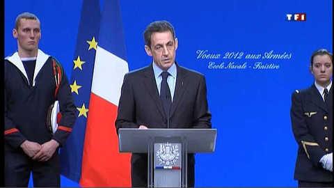 Les voeux de Nicolas Sarkozy aux armées