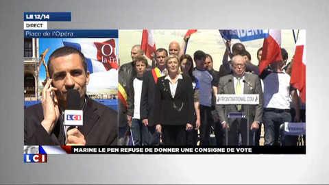"""Le vote blanc de Le Pen ? """"Un blâme lourd contre Sarkozy"""""""