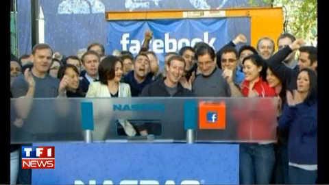 Zuckerberg sonne l'entrée en Bourse de Facebook : les images